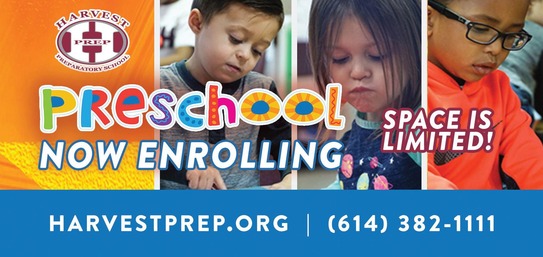 Harvest Preparatory School | Preschool Now Enrolling, Space is Limited! | harvestprep.org - 614-382-1111