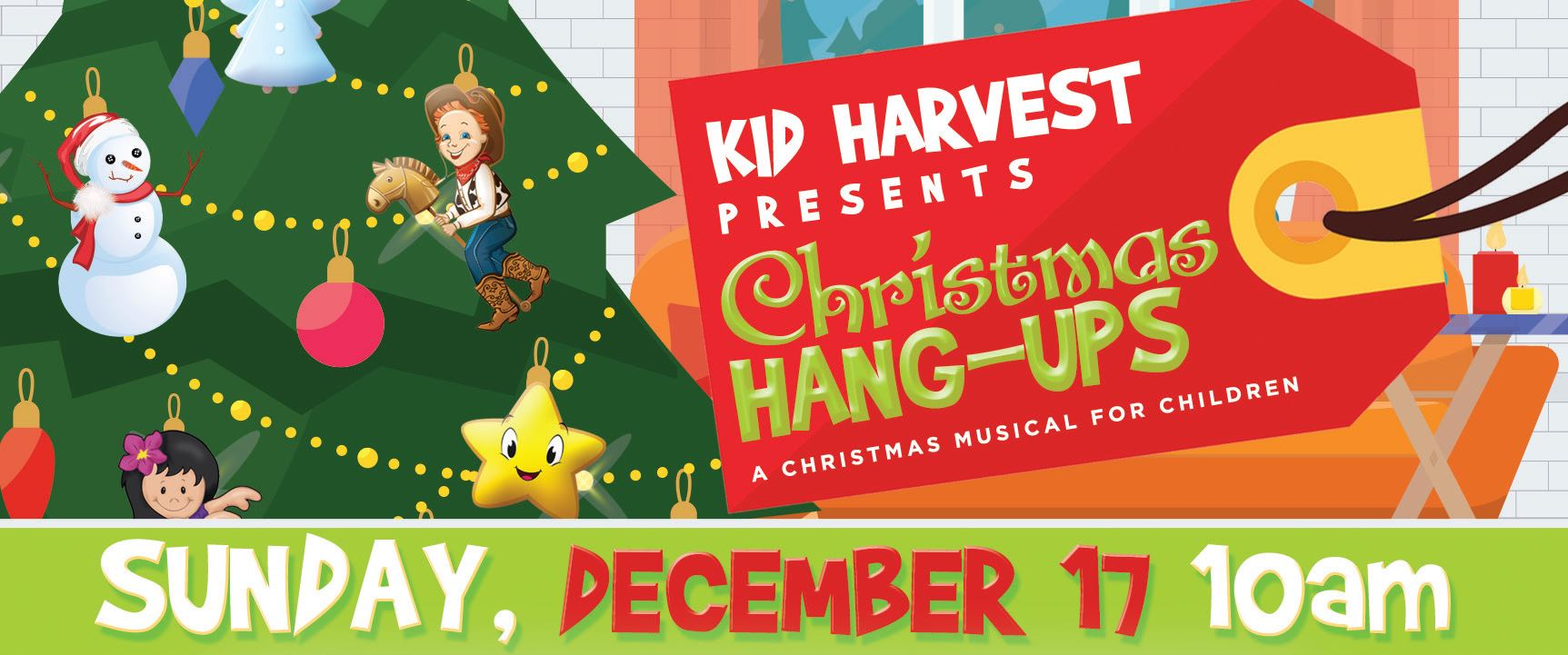 Kid Harvest Presents: Christmas Hang-Ups - A Christmas Musical for children | Sunday, December 17, 10am