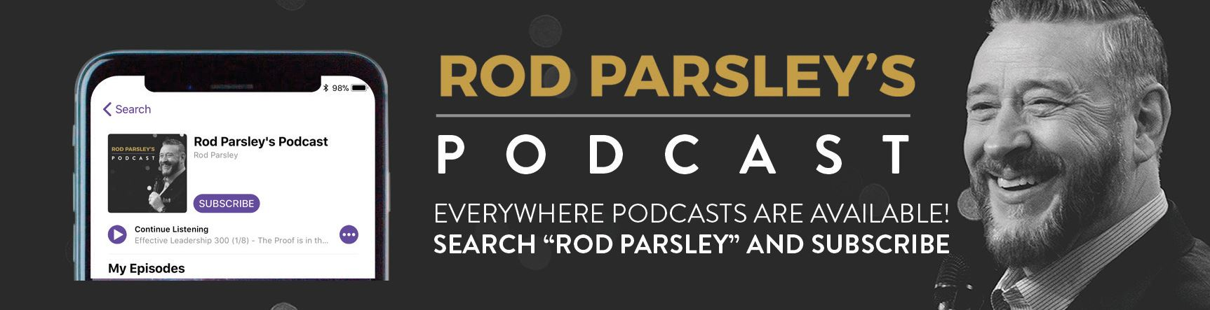 Rod Parsley's Podcast | Everywhere podcasts are available! | Search